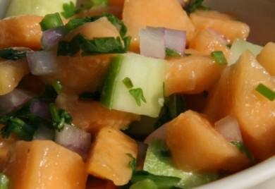 cantaloupe cucmber salsa